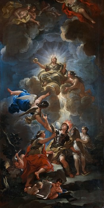Luca Giordano - Allegory of Divine Wisdom. Part 6 National Gallery UK