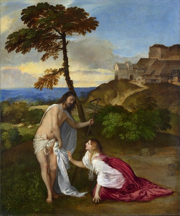 Titian - Noli me Tangere. Part 6 National Gallery UK
