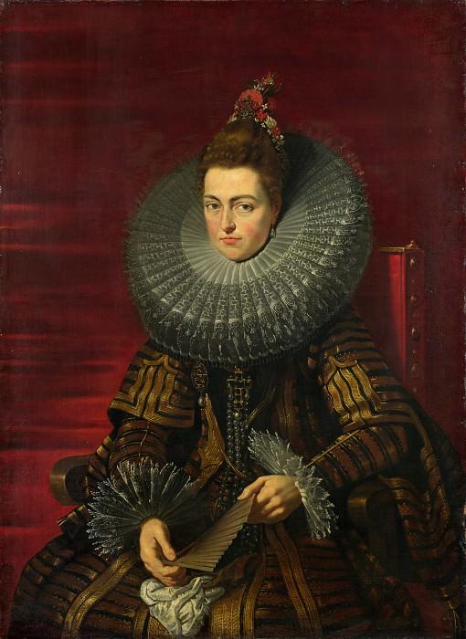 Studio of Peter Paul Rubens - Portrait of the Infanta Isabella. Part 6 National Gallery UK
