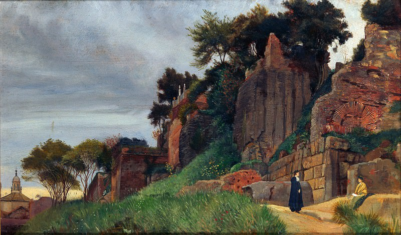 Roma Quadrata - A View on the Palatine Hill - George James Howard. Part 6 National Gallery UK