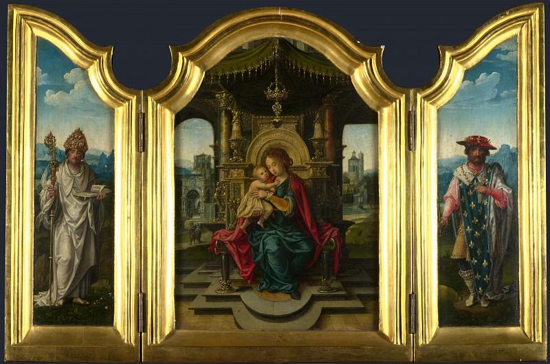 Питер Кук ван Альст (мастерская) - Мадонна с Младенцем на троне со святыми. Часть 6 Национальная галерея