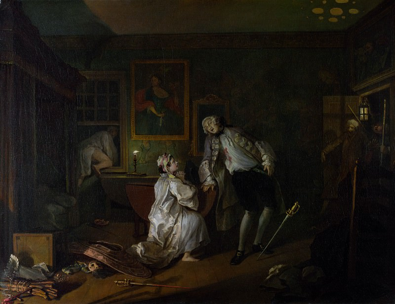 William Hogarth - Marriage A-la-Mode - 5, The Bagnio. Part 6 National Gallery UK