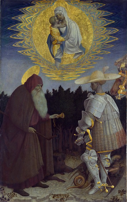 Pisanello - The Virgin and Child with Saints. Part 6 National Gallery UK