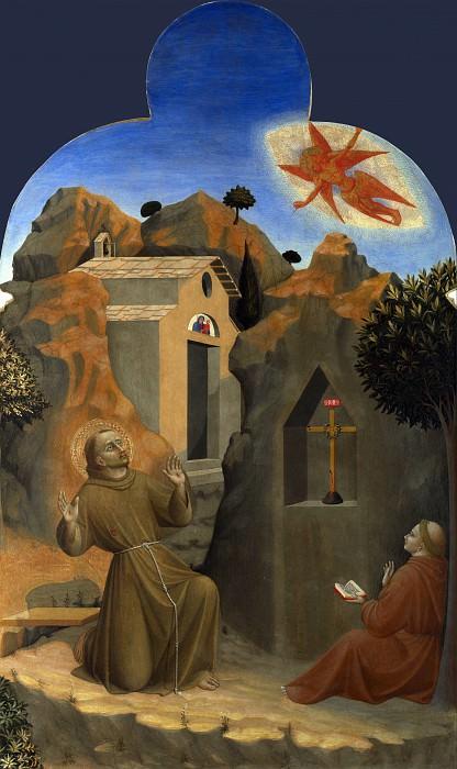 Sassetta - The Stigmatisation of Saint Francis. Part 6 National Gallery UK