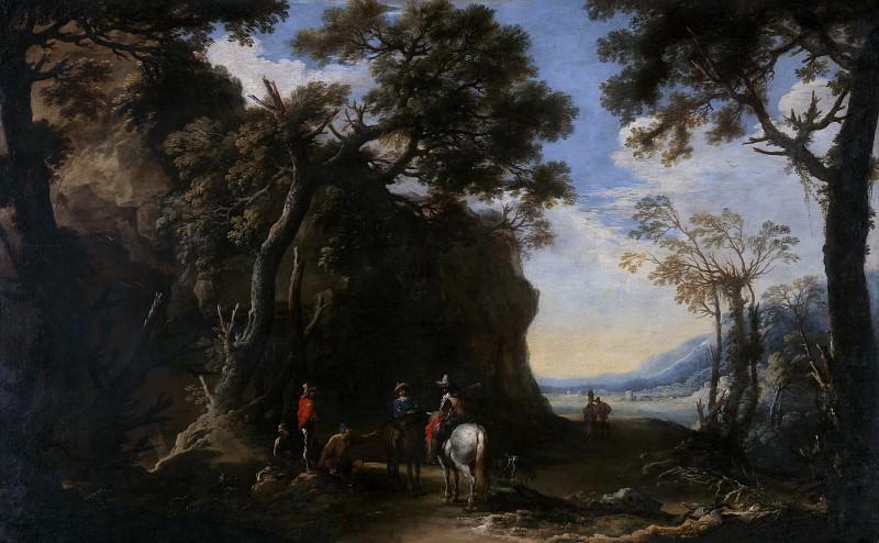 Сальватор Роза - Пейзаж с путниками, спрашивающими дорогу. Часть 6 Национальная галерея