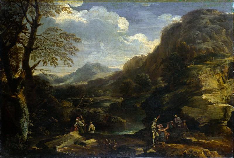 Сальватор Роза (манера) - Горный пейзаж с фигурами. Часть 6 Национальная галерея