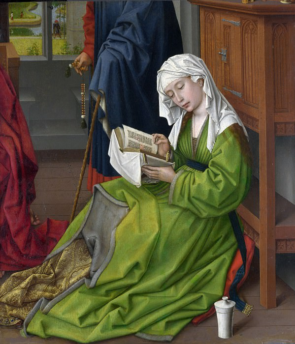 Rogier van der Weyden - The Magdalen Reading. Part 6 National Gallery UK