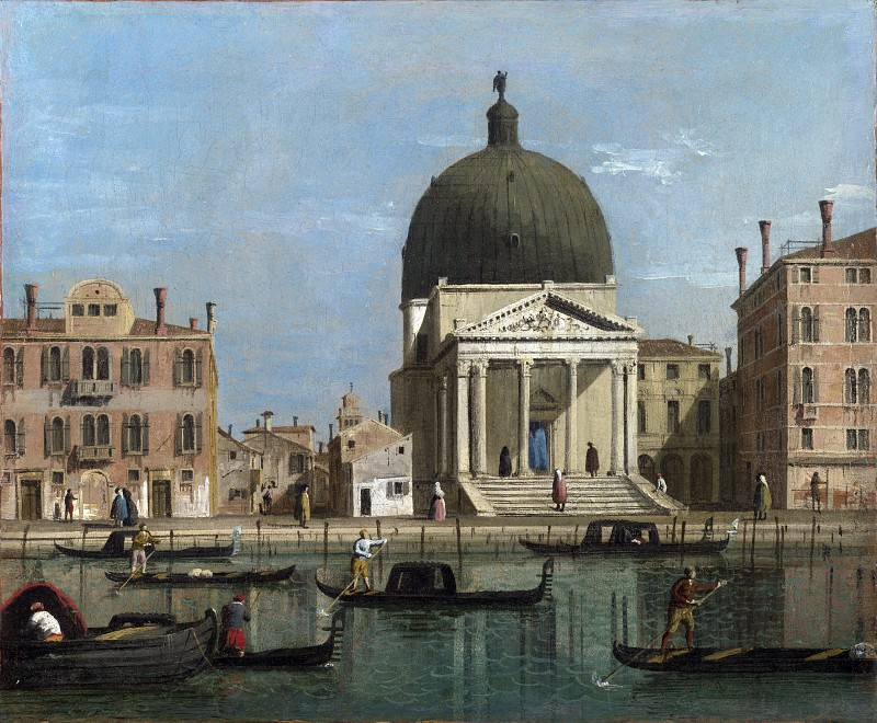 Follower of Canaletto - Venice - S. Simeone Piccolo. Part 2 National Gallery UK