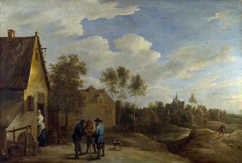 David Teniers the Younger - A View of a Village. Part 2 National Gallery UK