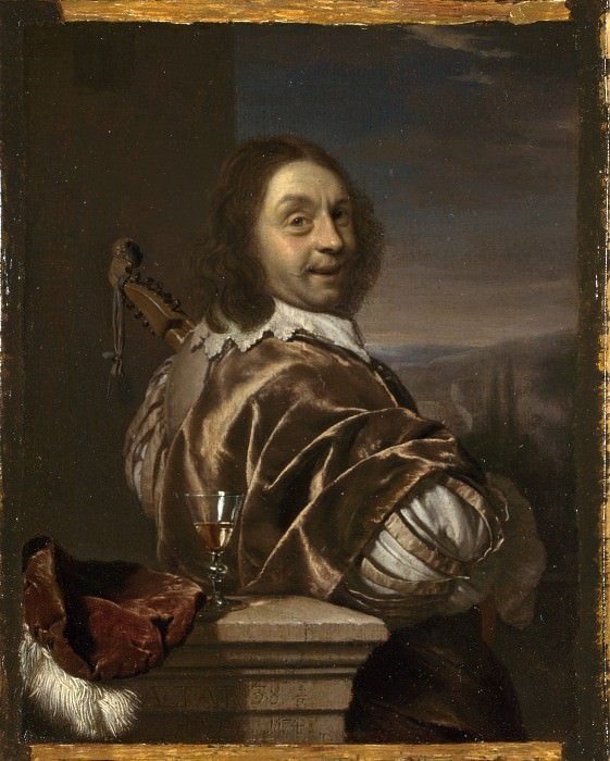 Frans van Mieris the Elder - Self Portrait of the Artist, with a Cittern. Part 2 National Gallery UK