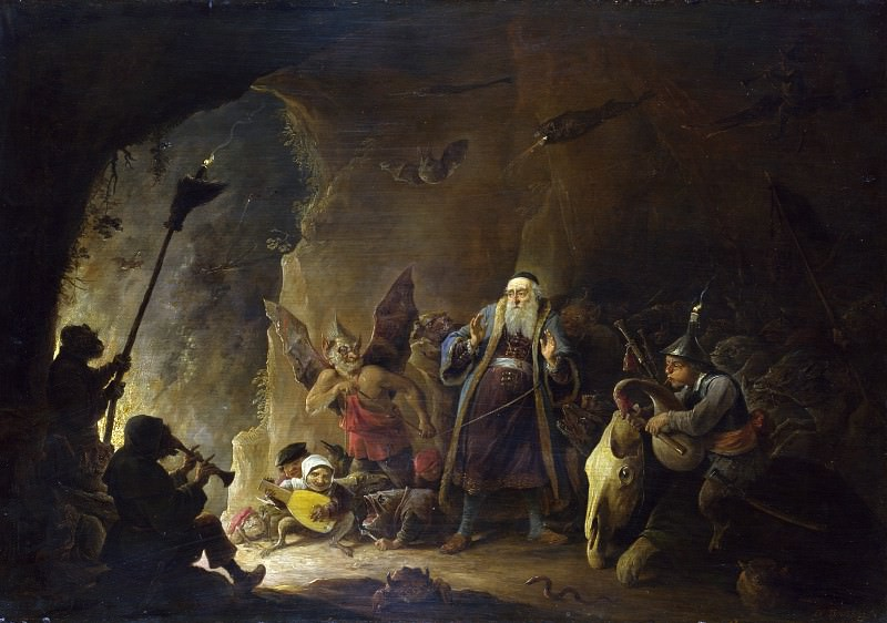 David Teniers the Younger - The Rich Man being led to Hell. Part 2 National Gallery UK