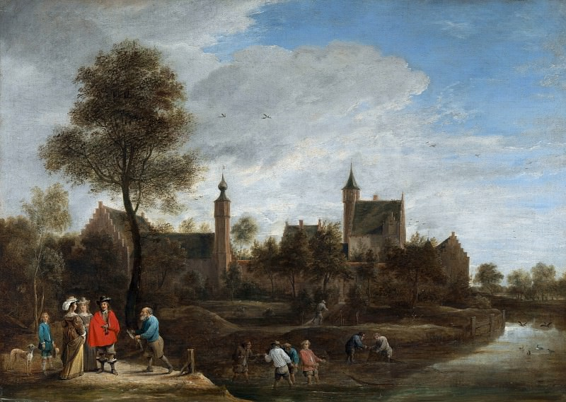 David Teniers the Younger - A View of Het Sterckshof near Antwerp. Part 2 National Gallery UK