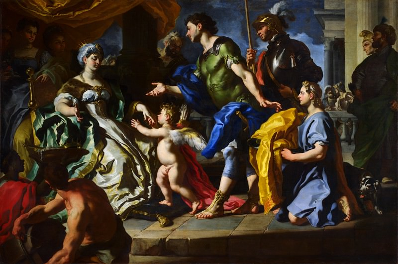 Francesco Solimena - Dido receiving Aeneas and Cupid disguised as Ascanius. Part 2 National Gallery UK