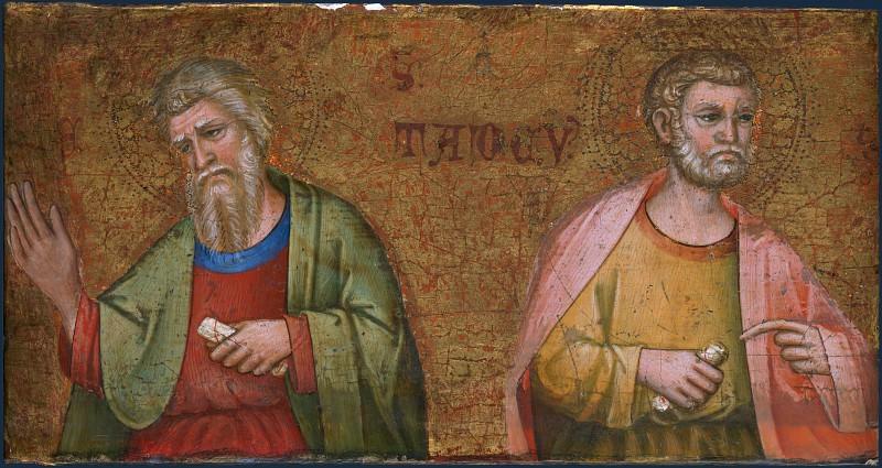 Далматинский мастер, 1375-1400 - Два апостола (фрагмент пределлы алтаря). Часть 2 Национальная галерея