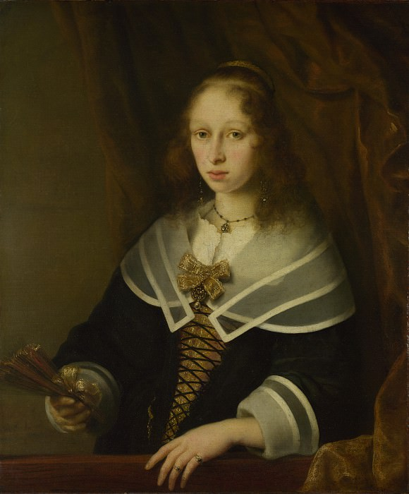 Ferdinand Bol - A Lady with a Fan. Part 2 National Gallery UK