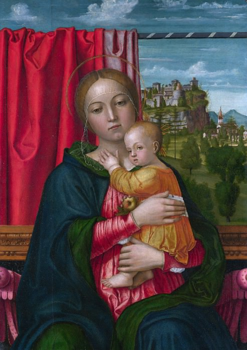 Francesco Morone - The Virgin and Child. Part 2 National Gallery UK