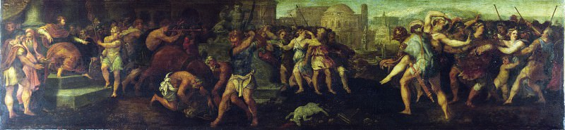 Follower of Giulio Romano - The Rape of the Sabines. Part 2 National Gallery UK