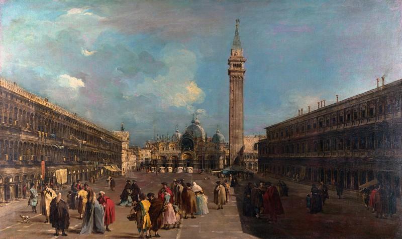 Francesco Guardi - Venice - Piazza San Marco. Part 2 National Gallery UK