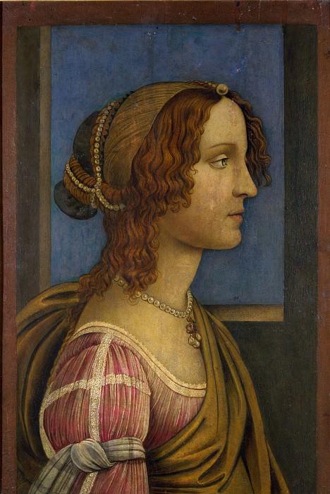 Сандро Боттичелли (последователь) - Портрет дамы в профиль. Часть 2 Национальная галерея