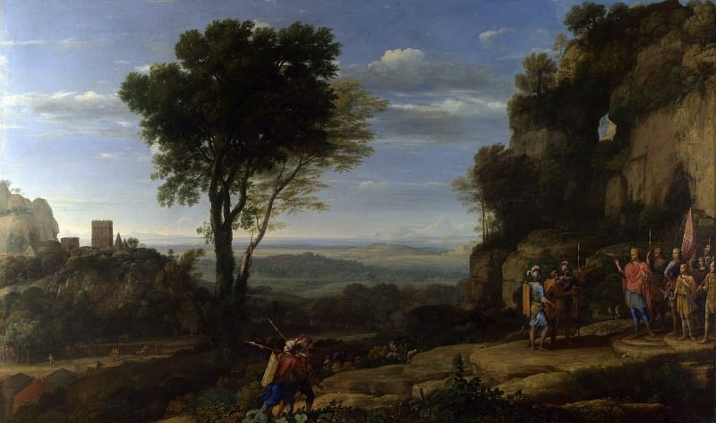 Claude - Landscape with David at the Cave of Adullam. Part 2 National Gallery UK