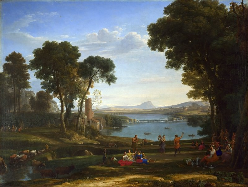 Claude - Landscape with the Marriage of Isaac and Rebecca. Part 2 National Gallery UK
