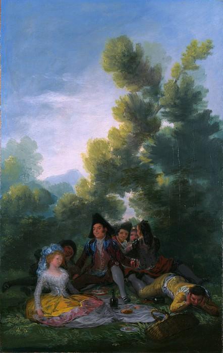 Francisco de Goya - A Picnic. Part 2 National Gallery UK