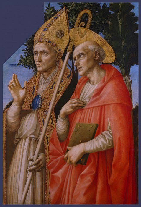 Francesco Pesellino and completed by Fra Filippo Lippi and Workshop - Saints Zeno and Jerome. Part 2 National Gallery UK