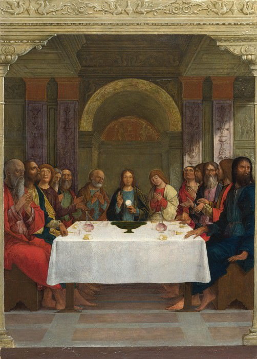 Ercole de Roberti - The Institution of the Eucharist. Part 2 National Gallery UK