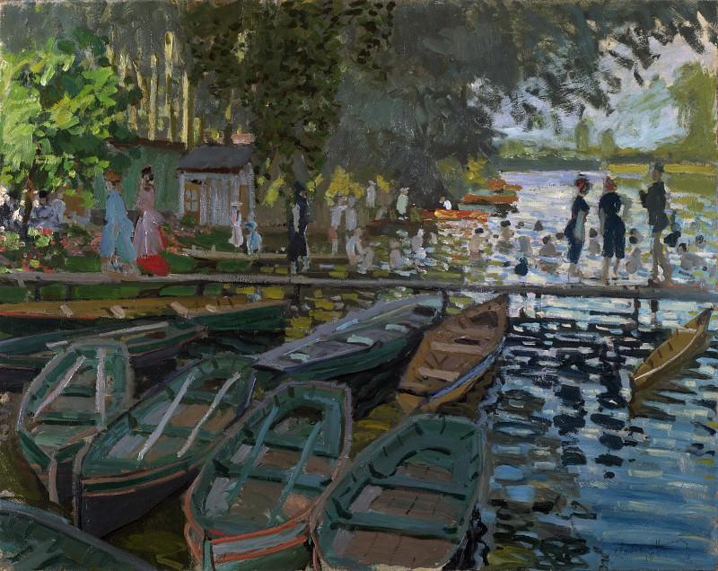 Claude-Oscar Monet - Bathers at La Grenouillere. Part 2 National Gallery UK