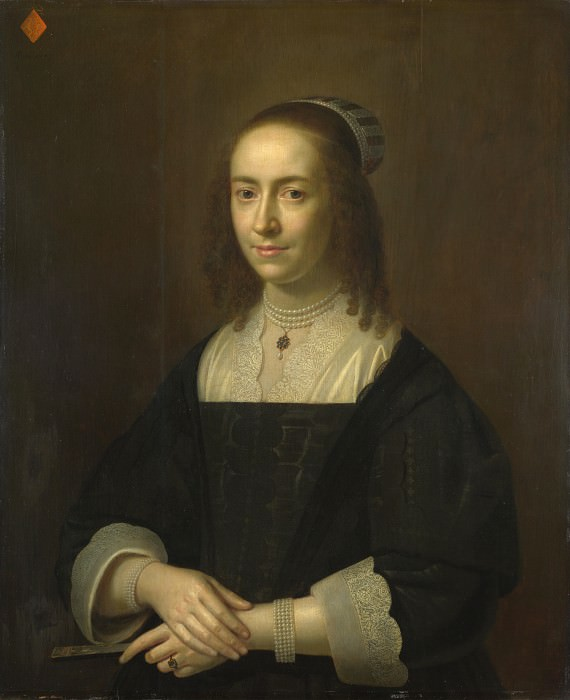 Dutch - Portrait of a Lady with a Fan. Part 2 National Gallery UK