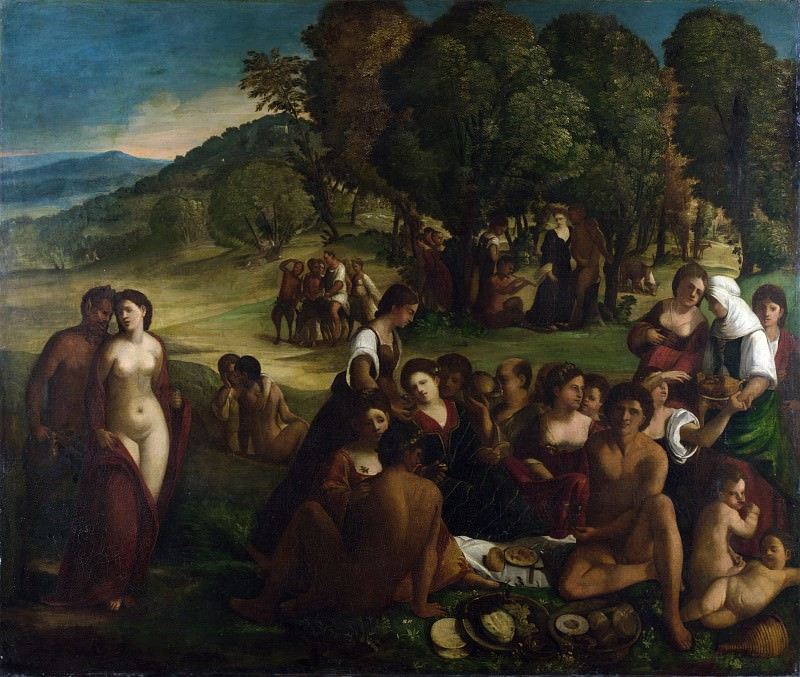 Dosso Dossi - A Bacchanal. Part 2 National Gallery UK