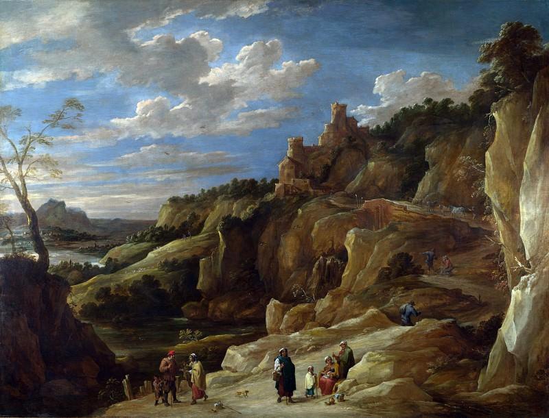 Давид Тенирс II - Цыганка-гадалка в скалистом пейзаже. Часть 2 Национальная галерея