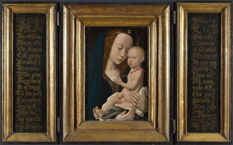 Follower of Hugo van der Goes - Virgin and Child. Part 2 National Gallery UK