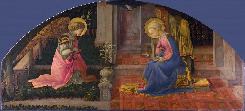 Fra Filippo Lippi - The Annunciation. Part 2 National Gallery UK