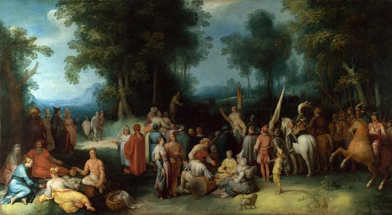 Cornelis van Haarlem - The Preaching of Saint John the Baptist. Part 2 National Gallery UK