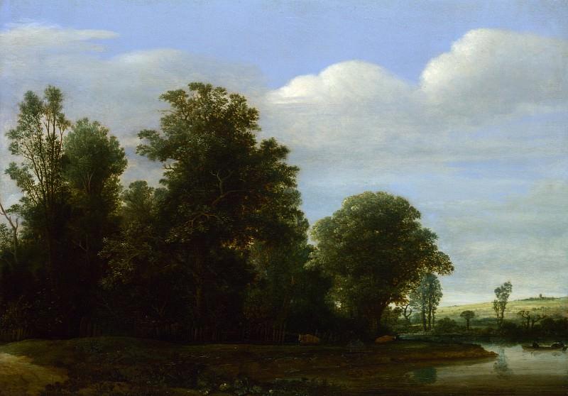 Корнелис Вром - Пейзаж с рекой у леса. Часть 2 Национальная галерея