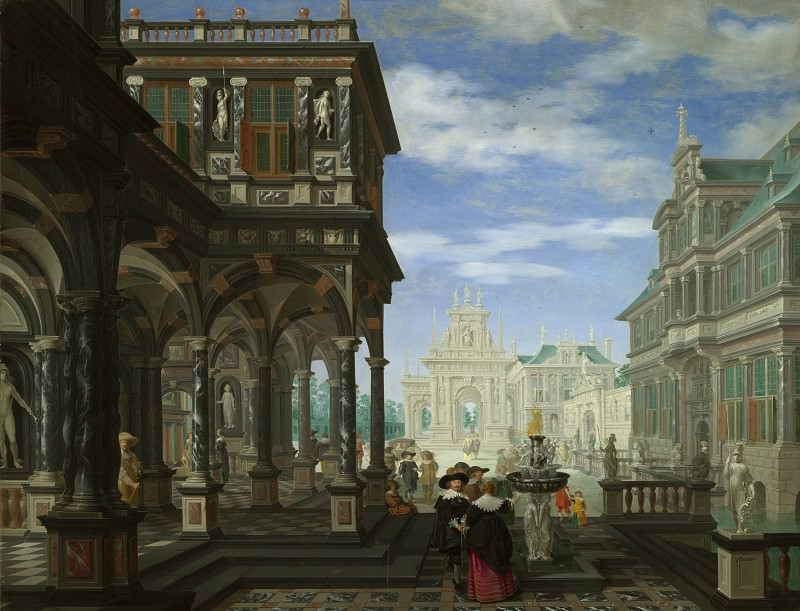 Dirck van Delen - An Architectural Fantasy. Part 2 National Gallery UK