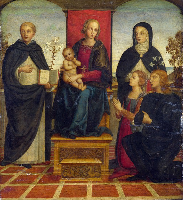 Follower of Pietro Perugino - The Virgin and Child with Saints. Part 2 National Gallery UK