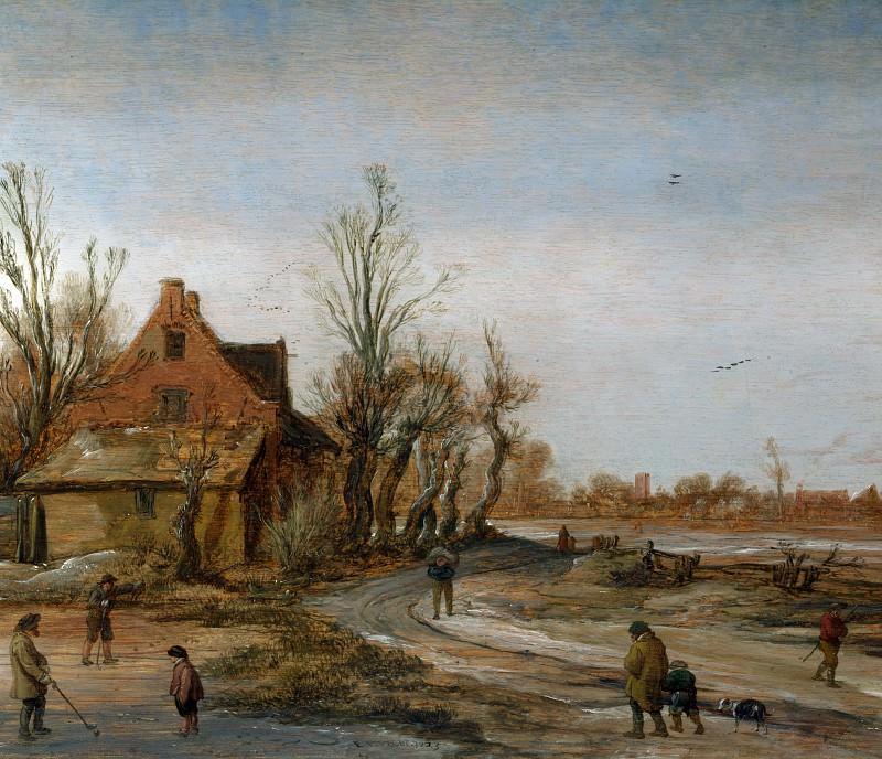Эсайас ван де Вельде - Зимний пейзаж. Часть 2 Национальная галерея