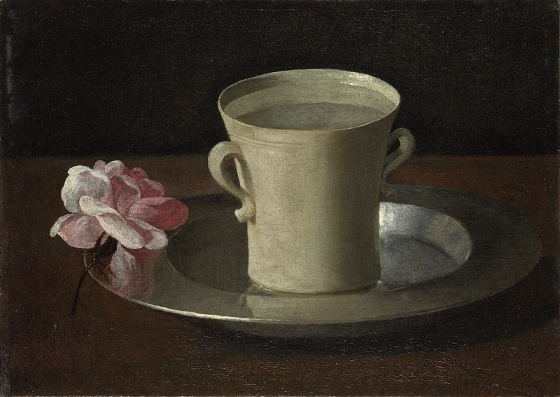 Francisco de Zurbaran - A Cup of Water and a Rose. Part 2 National Gallery UK