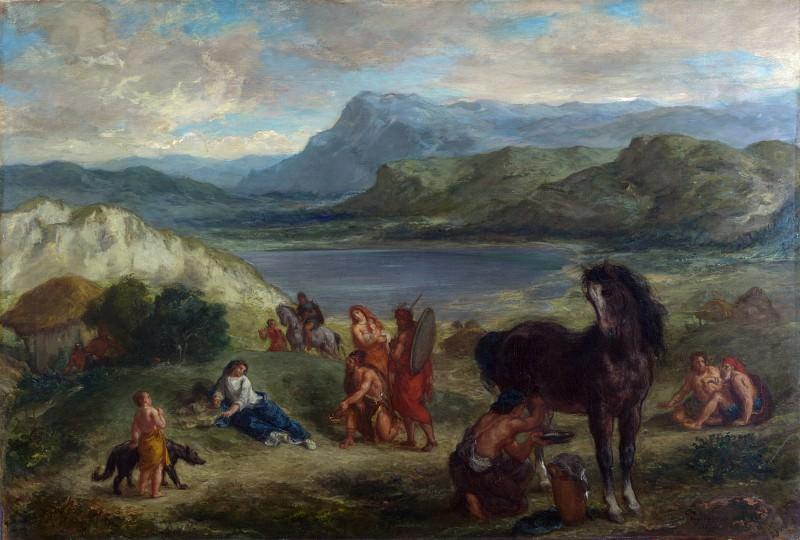 Eugene Delacroix - Ovid among the Scythians. Part 2 National Gallery UK