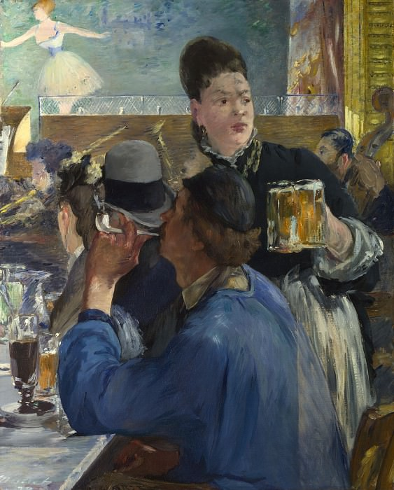 Edouard Manet - Corner of a Cafe-Concert. Part 2 National Gallery UK