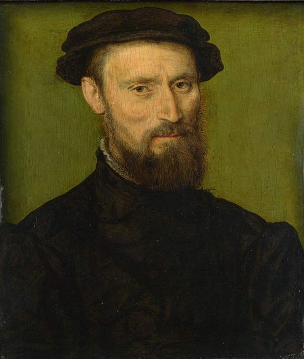 Corneille de Lyon - Bust Portrait of a Man. Part 2 National Gallery UK