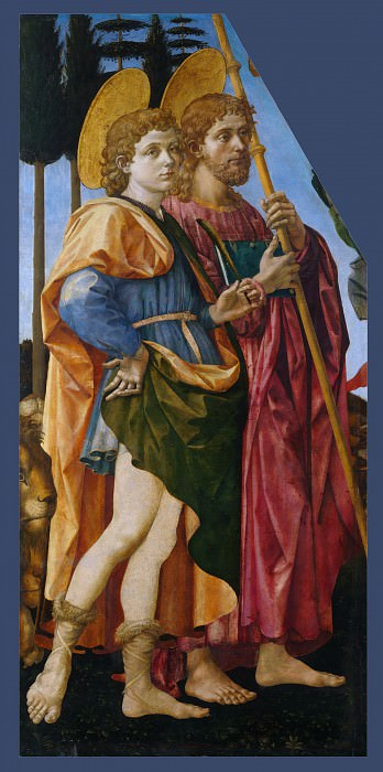 Francesco Pesellino and Fra Filippo Lippi and Workshop - Saints Mamas and James. Part 2 National Gallery UK