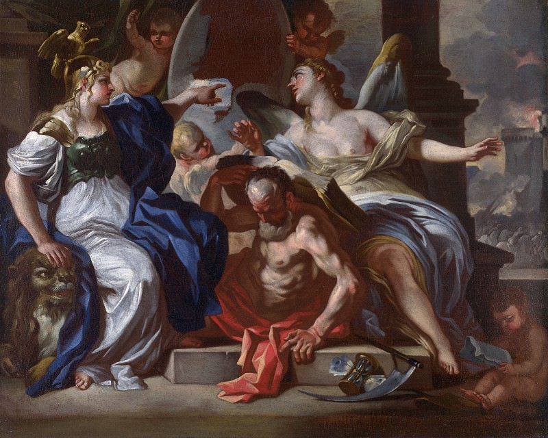 Francesco Solimena - An Allegory of Louis XIV. Part 2 National Gallery UK