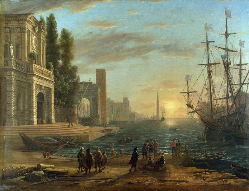 Claude - A Seaport. Part 2 National Gallery UK