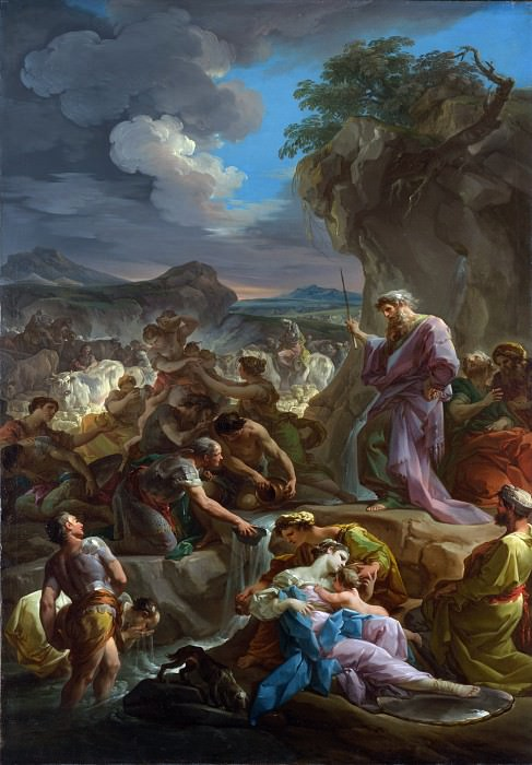 Corrado Giaquinto - Moses striking the Rock. Part 2 National Gallery UK