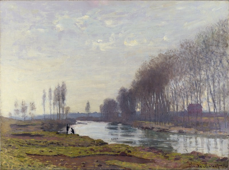 Claude-Oscar Monet - The Petit Bras of the Seine at Argenteuil. Part 2 National Gallery UK
