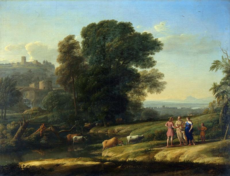 Клод Лоррен - Пейзаж с Кефалом Прокридой, воссоединенными Дианой. Часть 2 Национальная галерея