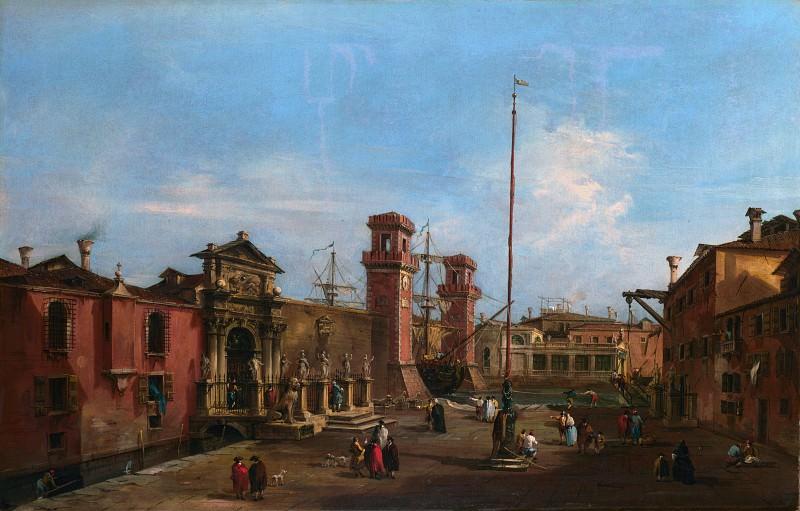 Francesco Guardi - Venice - The Arsenal. Part 2 National Gallery UK